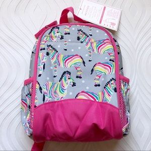 NWT Pottery Barn Kids Rainbow Zebra Lunch Bag